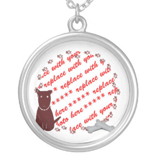Dog  Paw Prints Photo Frame Personalized Necklace