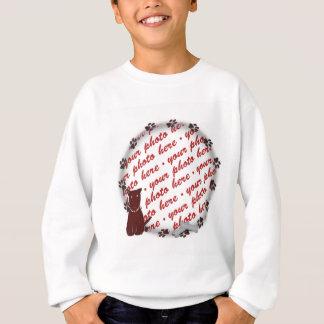 Dog Paw Prints Photo Frame Sweatshirt