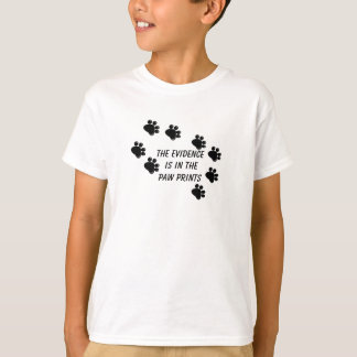 Dog Paw Prints with Cute Saying T-Shirt