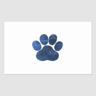 Dog Paw Rectangular Sticker