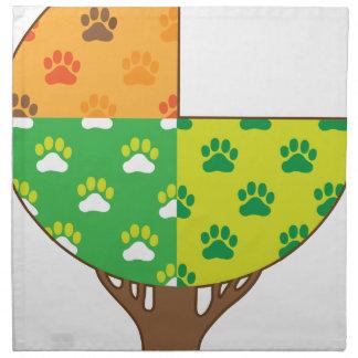 Dog Paw Seasons Printed Napkins