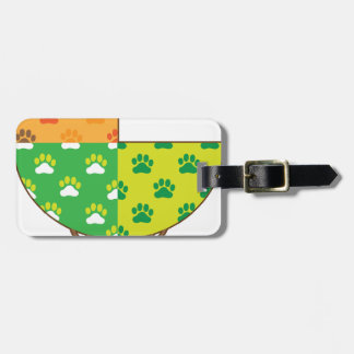 Dog Paw Seasons Tags For Luggage