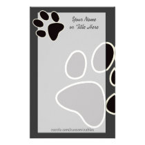 Dog Paw Stationery
