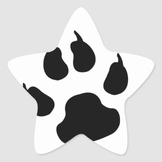 Dog Paw Star Sticker