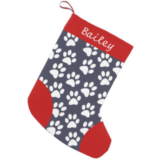 Dog Paw Themed Personalized Christmas Small Christmas Stocking