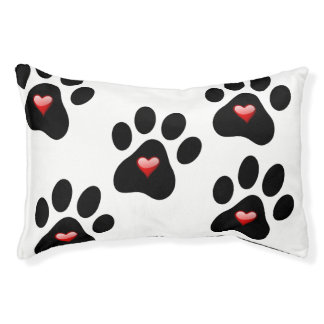 Dog Paw with Heart Bed Pet Rescue Adopt Dog Bed