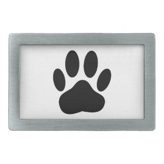 Dog Pawprint Rectangular Belt Buckle