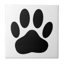 Dog Pawprint Tile