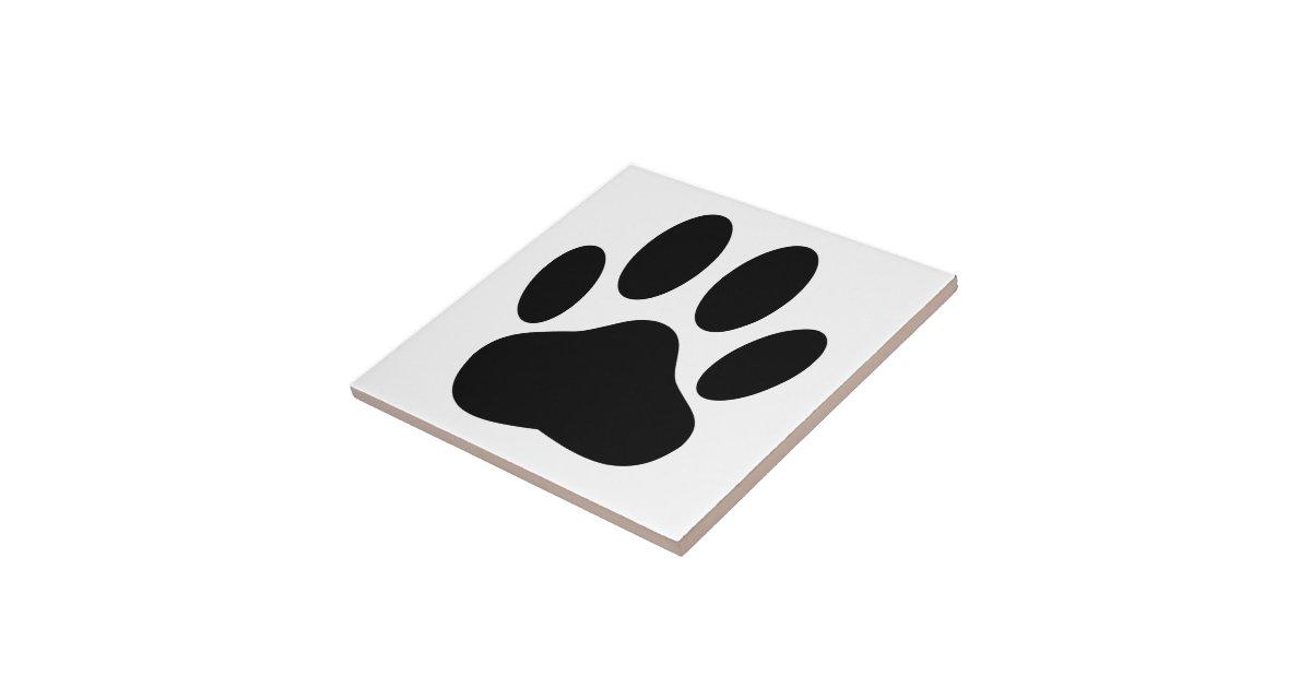 Dog Pawprint Tile Zazzle