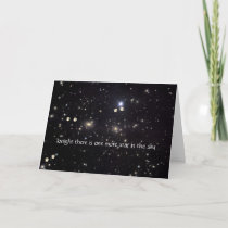 Dog Pawprints and Stars Sympathy Card