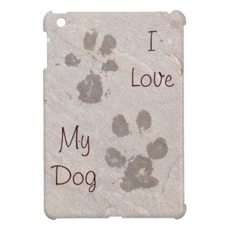 Dog Pawprints -I Love My Dog iPad Mini Case
