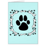 Dog Paws and Dog Bones Greeting Card