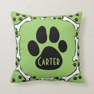 Dog Paws and Dog Bones Pillow