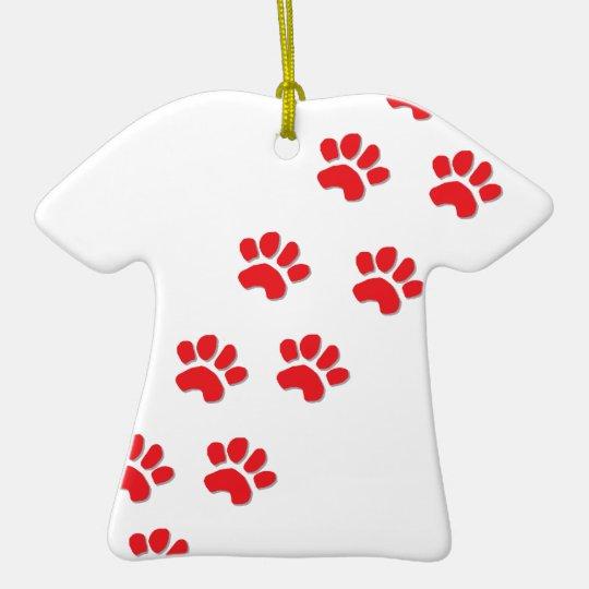 Dog Paws Ceramic Ornament