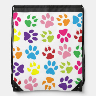 Dog Paws Pattern Cinch Bags