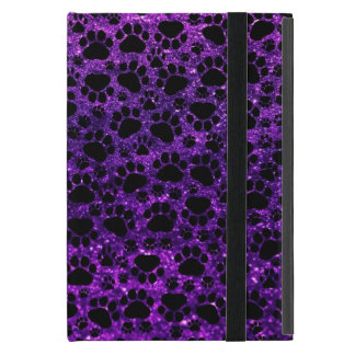 Dog Paws, Paw-prints, Glitter - Purple Black Cover For iPad Mini