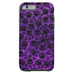 Dog Paws, Paw-prints, Glitter - Purple Black iPhone 6 Case