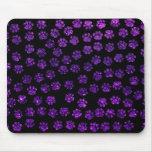 Dog Paws, Paw-prints, Glitter - Purple Black Mouse Pads