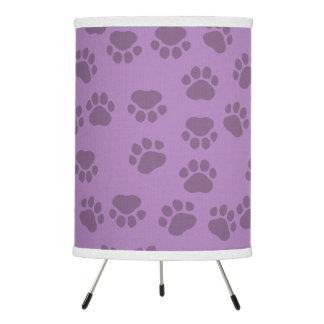 Dog Paws, Traces, Paw-prints - Purple Tripod Lamp