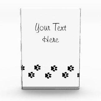 Dog Paws, Traces, Paw-prints - White Black Acrylic Award