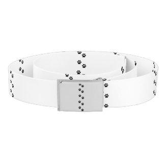 Dog Paws, Traces, Paw-prints - White Black Belt