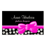 Dog Paws, Traces, Paw-prints - White Black Business Cards