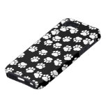 Dog Paws, Traces, Paw-prints - White Black iPhone 5 Cases