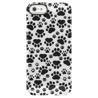 Dog Paws, Traces, Paw-prints - White Black Uncommon Permafrost® Deflector iPhone 5 Case