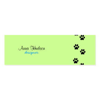 Dog Paws Traces Trails Paw-prints - Black Business Cards