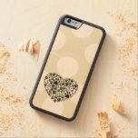 Dog Paws, Trails, Paw-prints, Heart - Black Carved® Maple iPhone 6 Bumper Case
