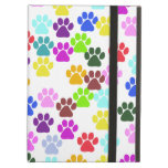 Dog Paws, Trails, Paw-prints - Red Blue Green iPad Air Covers