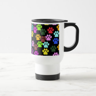 Dog Paws Trails Paw-prints - Red Blue Green Coffee Mugs