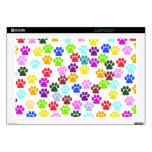 Dog Paws, Trails, Paw-prints - Red Blue Green Decal For Laptop