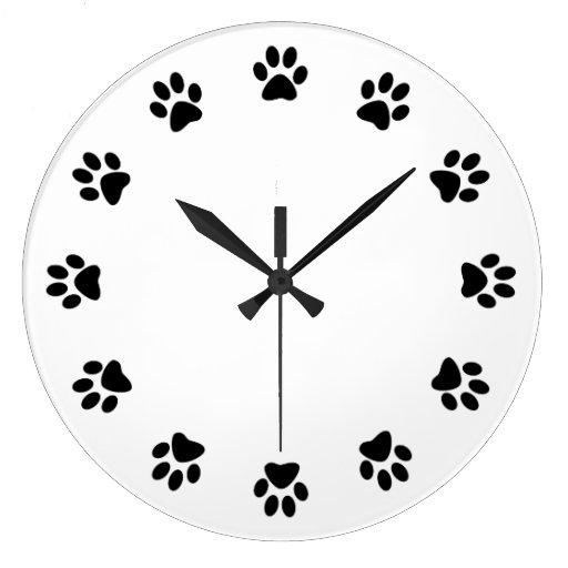 DOG PAWS WALL CLOCK