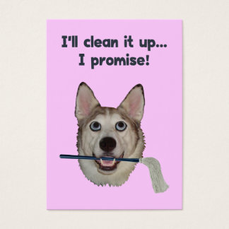 Dog Pee Clean Humor Business Card