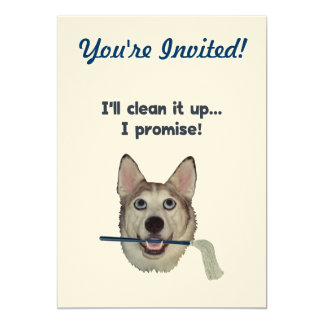 Dog Pee Clean Humor 5x7 Paper Invitation Card