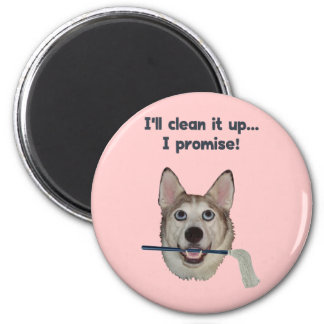 Dog Pee Clean Humor Fridge Magnets