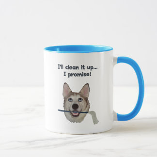 Dog Pee Clean Humor Mug