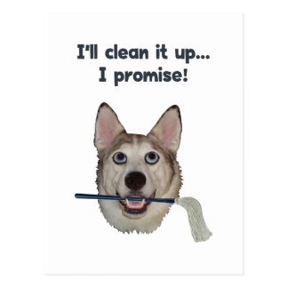 Dog Pee Clean Humor Postcard