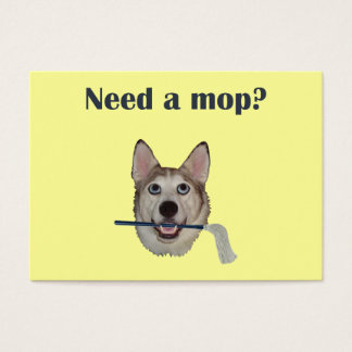 Dog Pee Humor Need Mop Business Card