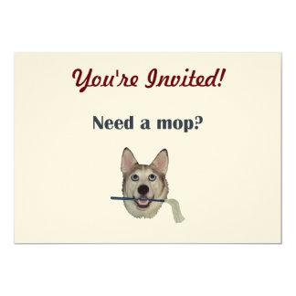 Dog Pee Humor Need Mop Card