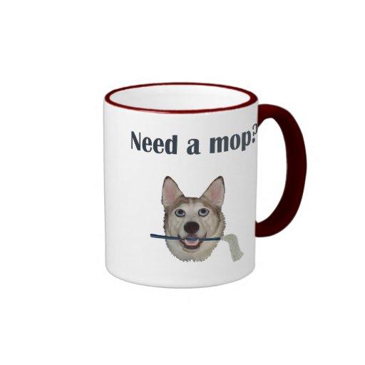 Dog Pee Humor Need Mop Coffee Mug | Zazzle