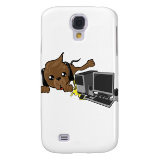 dog peeing on pc smiley galaxy s4 case