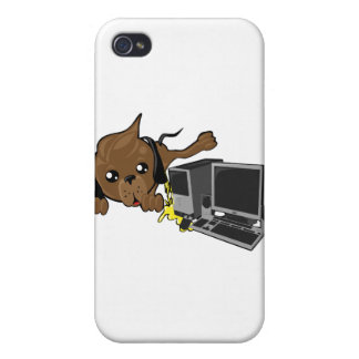 dog peeing on pc smiley case for iPhone 4