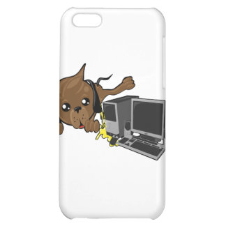 dog peeing on pc smiley cover for iPhone 5C