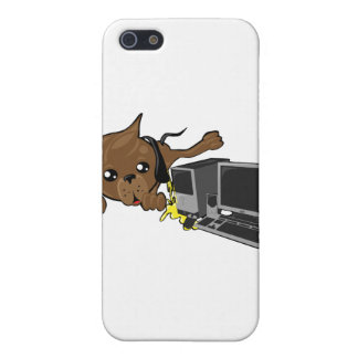 dog peeing on pc smiley iPhone 5 cover