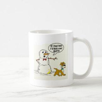 Dog Pees on Snowman Mug