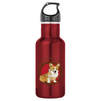 Dog pembroke welsh corgi 18oz water bottle