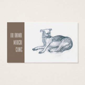 Dog. Pencil drawing. Business Card