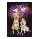 """Dog Person New Year's Invitation 5"""" X 7"""" Invitation Card"""